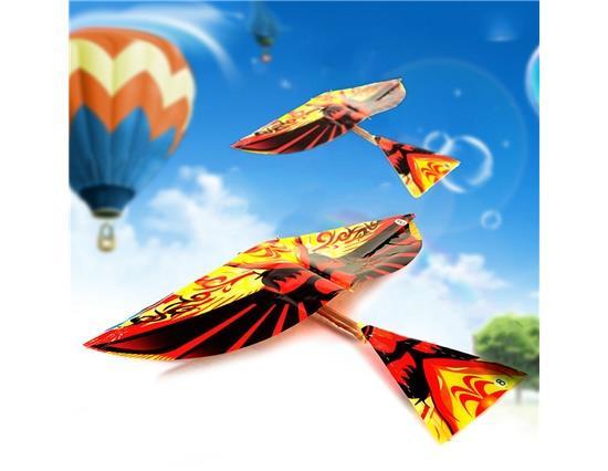 Coloré bande de caoutchouc alimenté oiseaux volants jouets nouveau classique jouets moulin à vent drôle jouet enfants cadeau