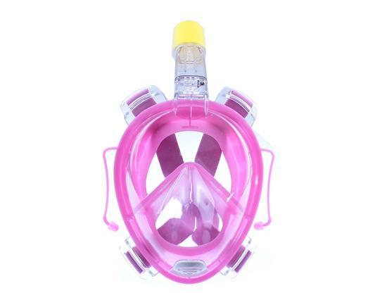 تحت الماء لمكافحة الضباب كامل الوجه قناع الغوص مجموعة الغوص التنفس أقنعة آمنة ومضادة للماء كاميرا Gopro L / XL الحجم - الوردي