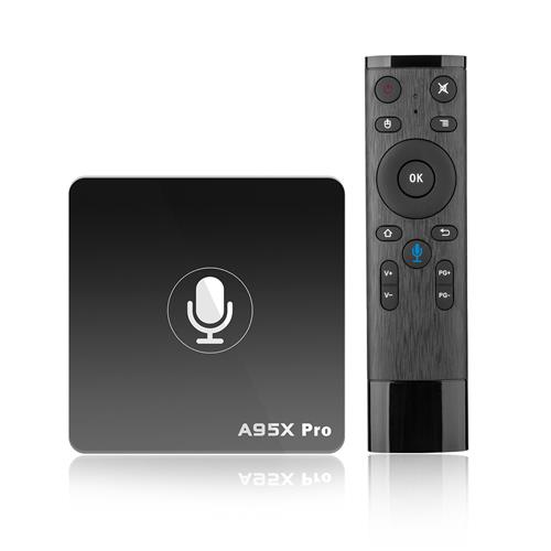 Nexbox A95X Pro Android TV OS 2GB/16GB Youtube 4K Amlogic S905W 4K TV Box with Voice Remote 2.4G WiFi LAN