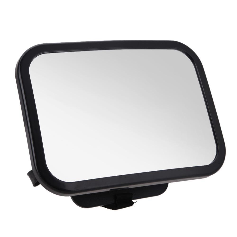 HX-M1001 Achteruitkijkspiegel Disc Type Baby achteruitkijkspiegel 360 Graad Rotatie In auto-interieur Trim - Zwart