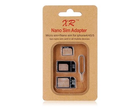 Nano SIM Négy-In-One készlet IPhone 4 és 4S / Iphone 5 - fekete