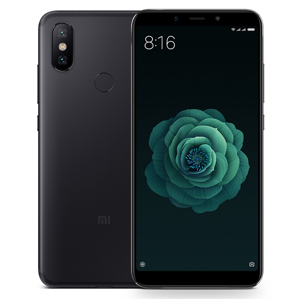 Xiaomi Mi 6X 5.99 Inch Full Screen 4G Smartphone Snapdragon 660 6GB 128GB 20.0MP AI Dual Camera Face Recognition QC 3.0 Quick Charge Metal Unibody English and Chinese Version - Black