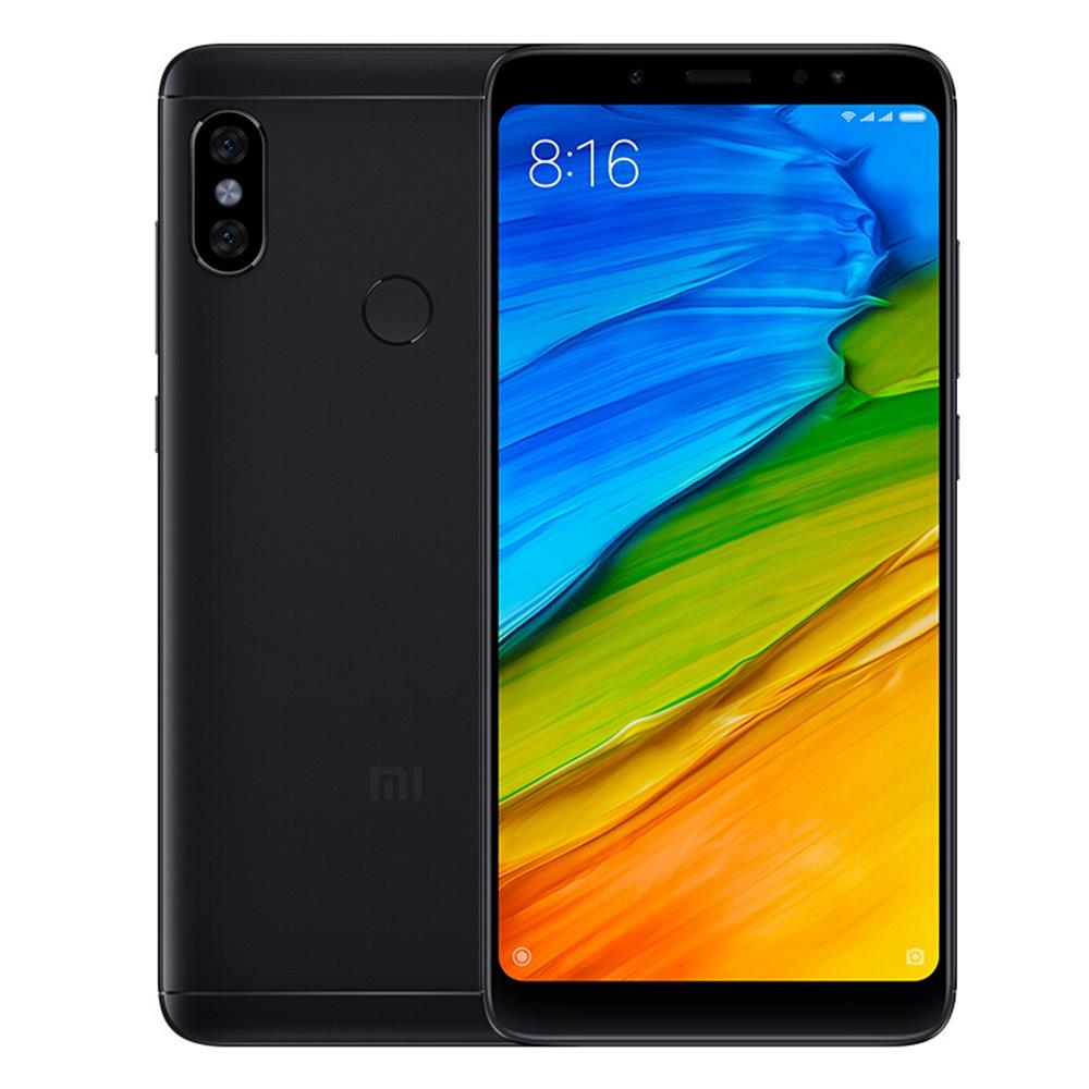 Xiaomi Redmi Note 5 5.99 Inch 4G Smartphone Snapdragon 636 4GB 64GB 12.0MP+5.0MP Dual Rear Cameras Android 8.1 Full Screen Face ID Infrared Global Version - Black