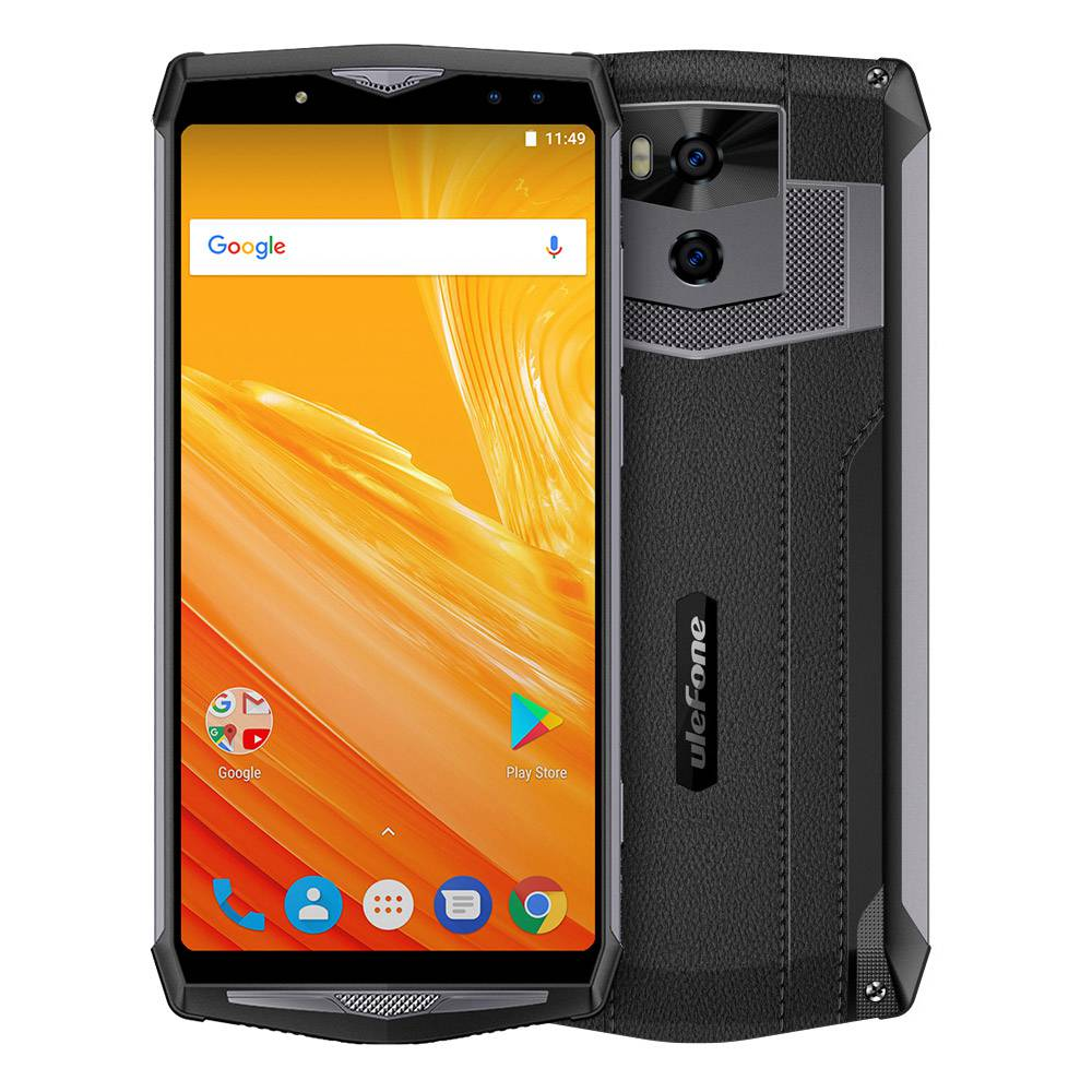 Ulefone Power 5 6.0 Inch 4G Smartphone MTK6763 6GB 64GB 21.0MP+5.0MP Dual Rear Cameras Android 8.1 13000mAh Wireless Charge Face ID - Black