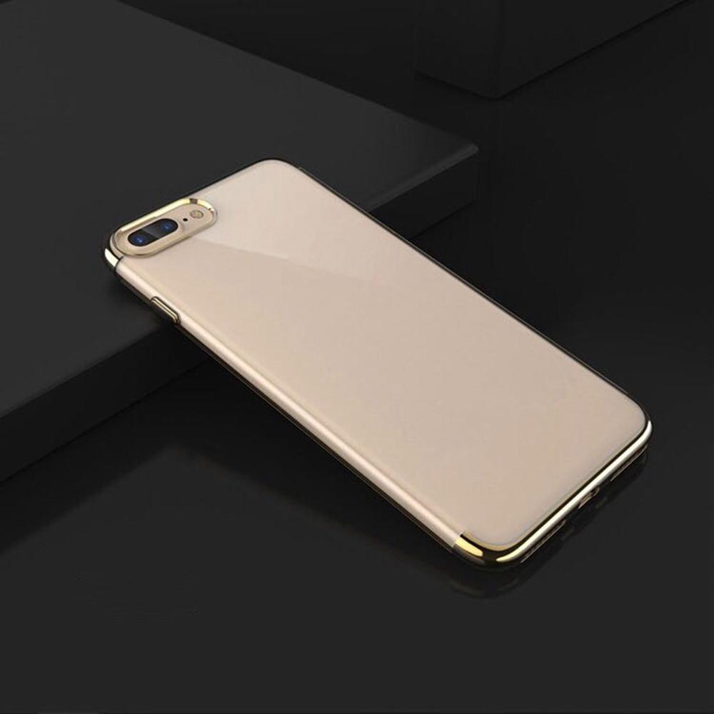 Cover protettiva per telefono trasparente per iPhone 8 Plus - Oro