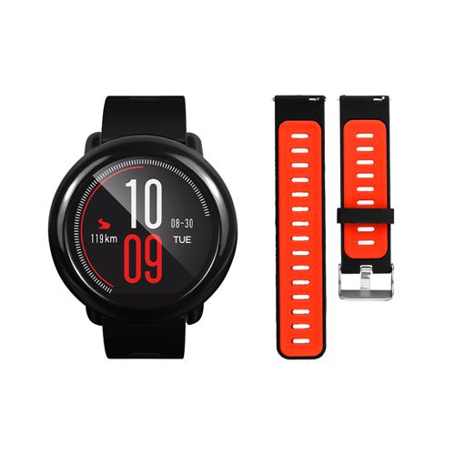AMAZFIT Pace Replacement Strap With Hard Case Black Red