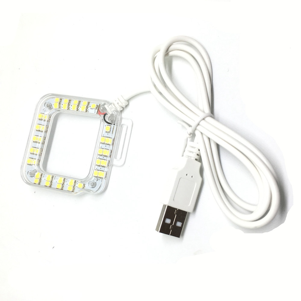 USB Flash Fill Light Lampe mit 37 LED Objektiv Ring für GoPro Hero 3 / 3 + / 4 Kamera - Weiß