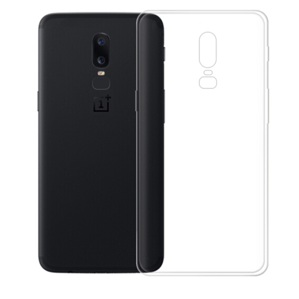 OnePlus 6 Soft Case Air Shell Silicon Back Cover High Quality Protective Phone Shell - Transparent фото