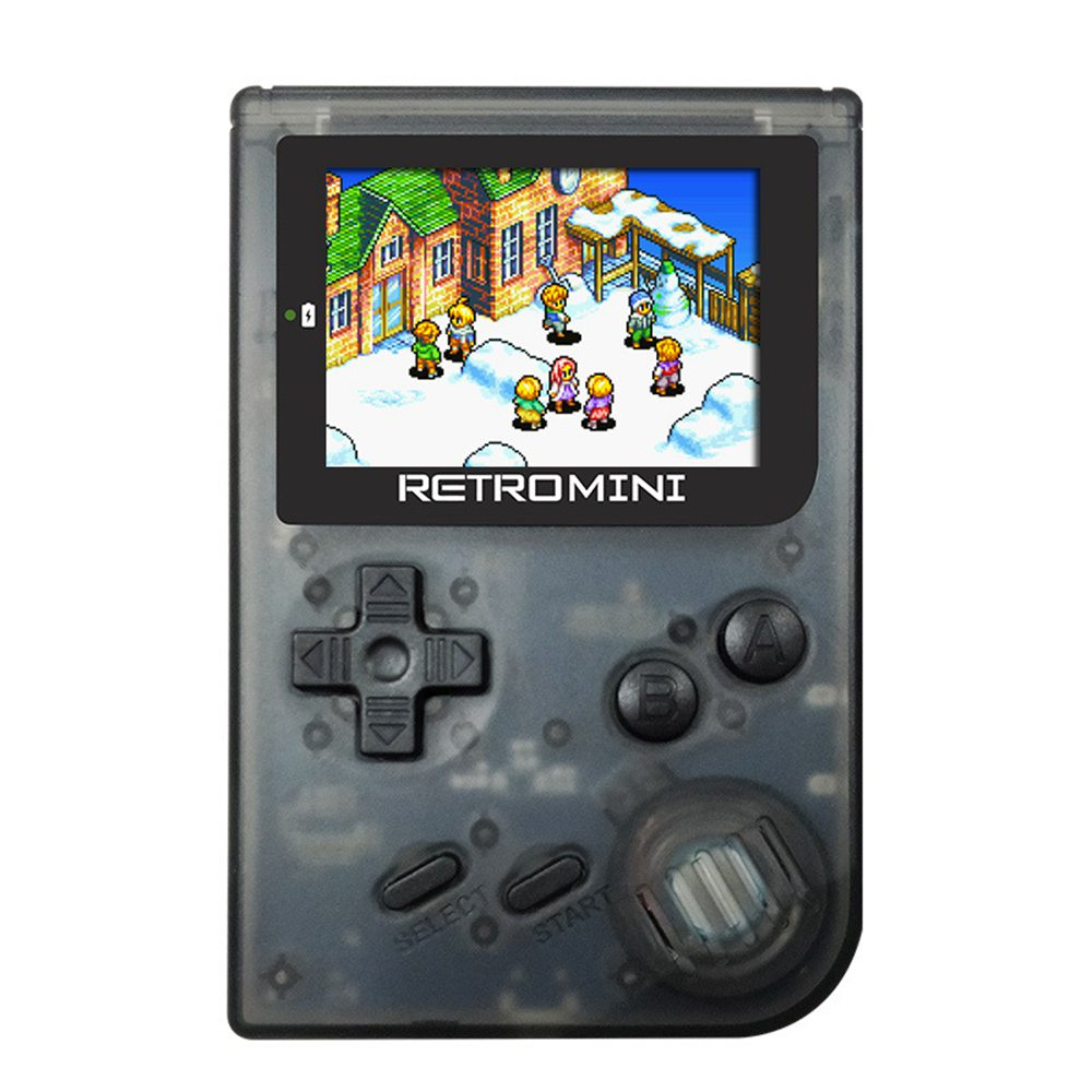 Coolbaby RS-90 Retro Mini Handheld Game Console Player 36 Classic GBA Games - Transparent Black