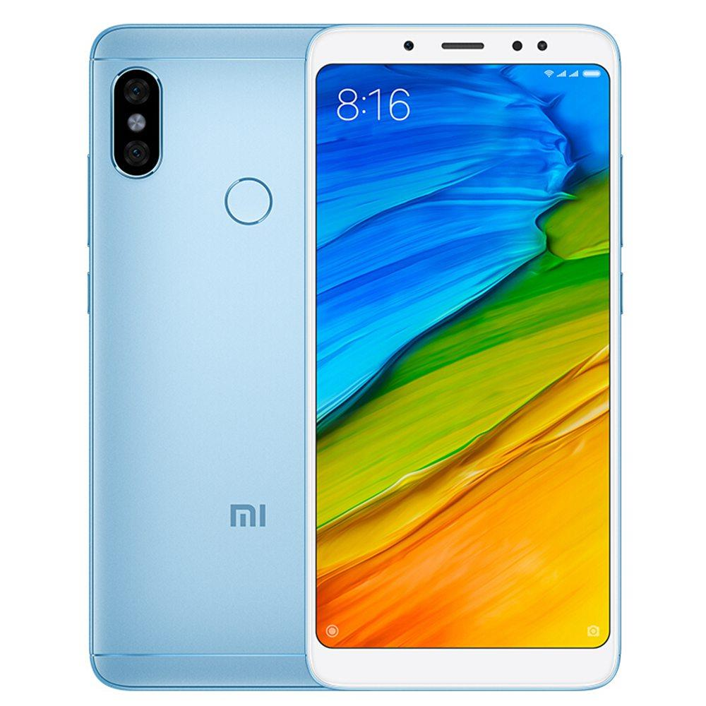 Xiaomi Redmi Note 5 5.99 Inch 4G Smartphone Snapdragon 636 4GB 64GB 12.0MP+5.0MP Dual Rear Cameras Android 8.1 Full Screen Face ID Infrared Global Version - Blue