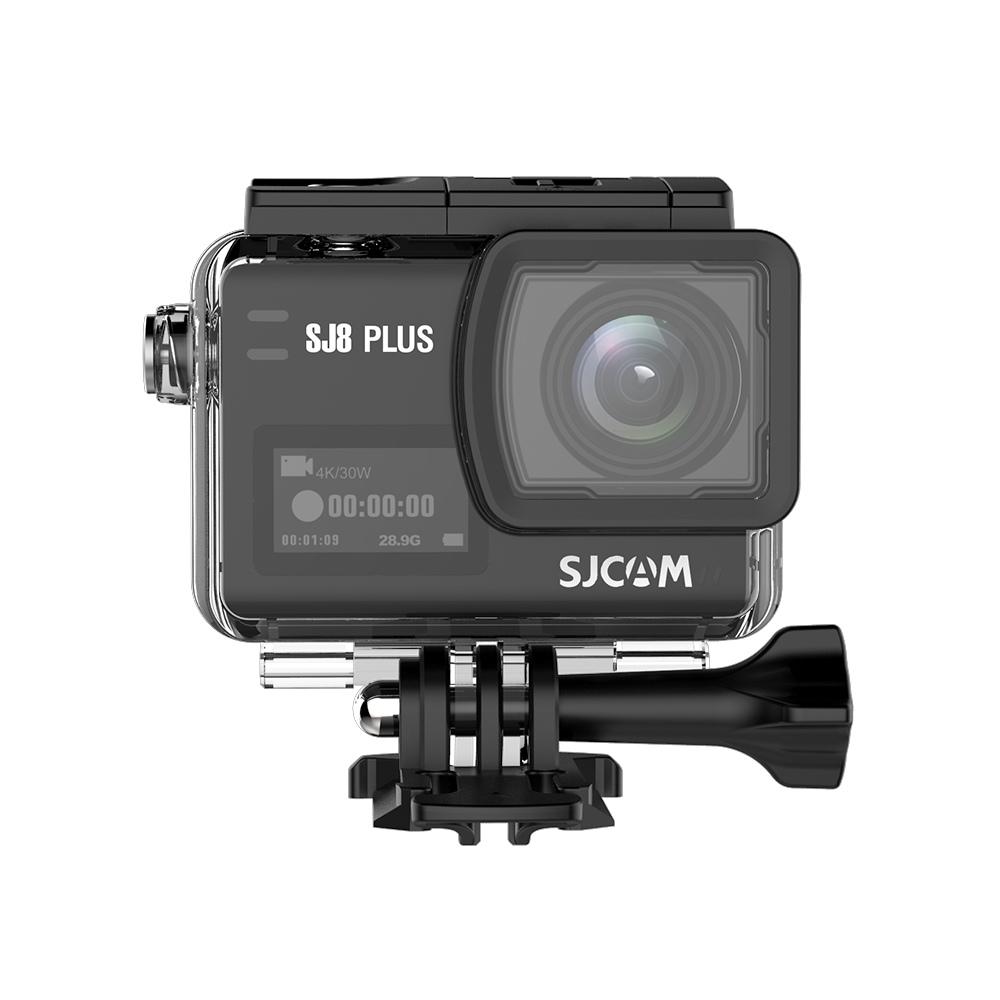 SJCAM SJ8 Plus WiFi Action Camera 2.33 Inch 12MP SONY IMX117 Sensor 170 Degree Angle Len With Waterproof Case - Black