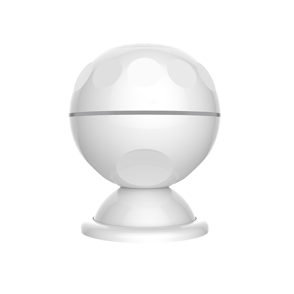 Geekbes NAS-PD02W PIRモーションセンサーWifiマグネットブラケット7cm検出距離交換可能なバッテリーAPP制御 - ホワイト