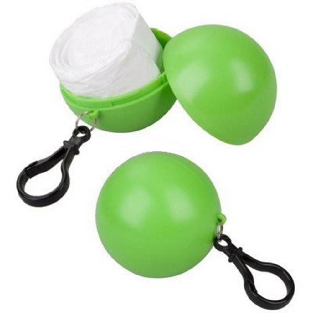 Poncho de pluie coloré d'imperméables jetables de secours avec la conception portative de sphère de crochet - couleurs aléatoires