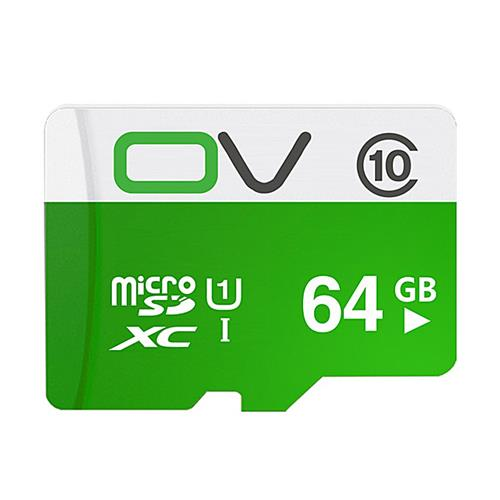 OV 64GB การ์ดหน่วยความจำ Micro SD การ์ด Class10 การ์ดหน่วยความจำโทรศัพท์มือถือ - สีเขียว