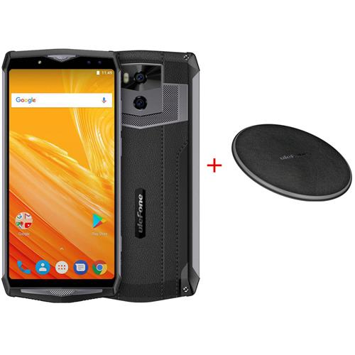 [Package B]Ulefone Power 5 6.0 Inch 4G Smartphone MTK6763 6GB 64GB 21.0MP+5.0MP Dual Rear Cameras Android 8.1 Black + Ulefone UF002 Wireless Charger