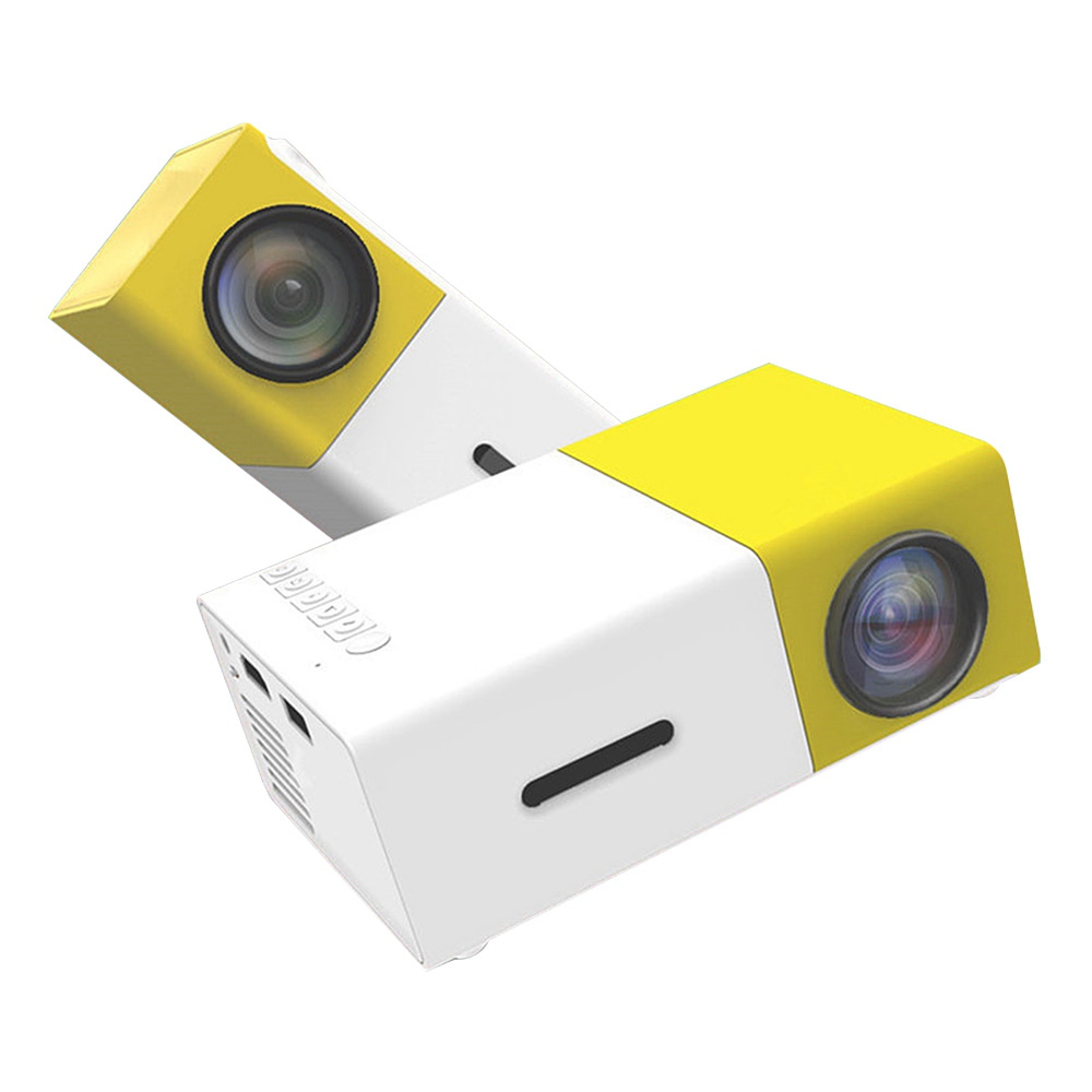 YG-300 Mini Pocket LCD Projector - Yellow