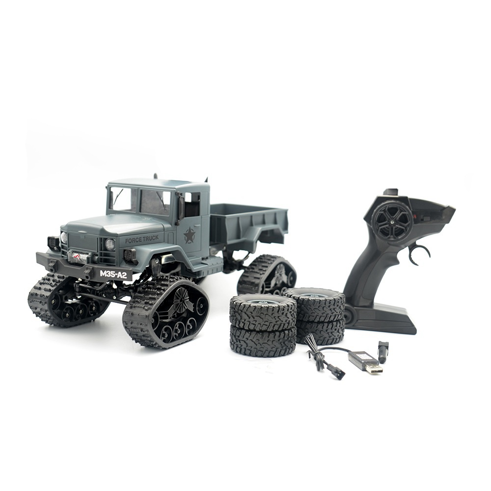Fayee FY001C RC Car 2.4G 4CH 4WD 1:16 Brushed Off-road Army Truck Snow Tires with Ordinary Tire RTR - Army Green