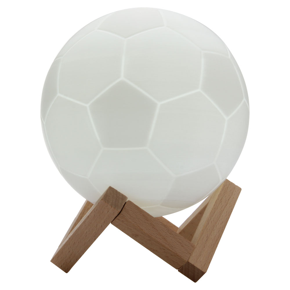 Geekbes 3D LED Soccer Light 10cm Touch Control World Cup Souvenirs Night Lights - White