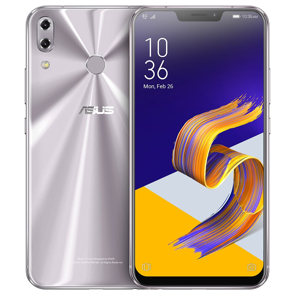 ASUS ZenFone 5 ZE620KL 6.2 pollici 4G LTE Snapdragon per smartphone 636 4GB 64GB 12.0MP + 8.0MP Dual Rear Telecamere Android Oreo Full Screen tipo-C Touch ID NFC OTG Global Version - Argento