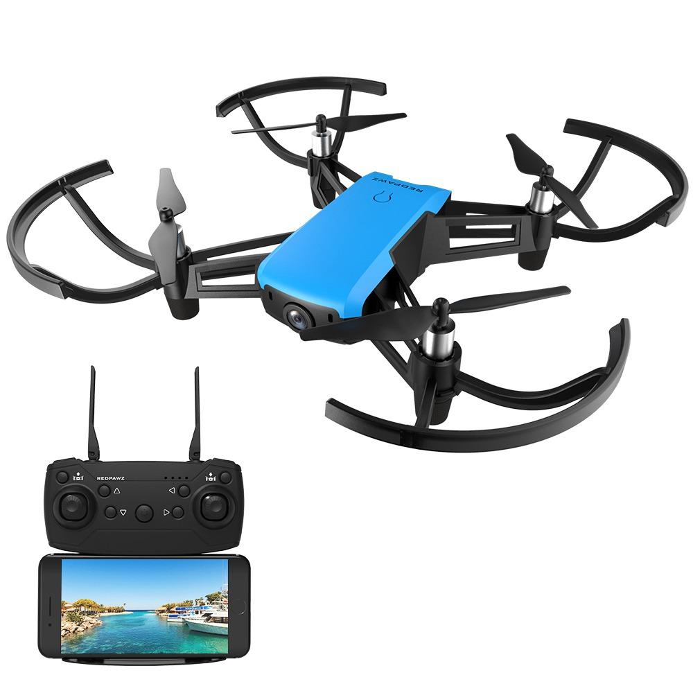 REDPAWZ R020 BLAST WIFI FPV พร้อมด้วย 720P ความสูงของกล้องถ่ายภาพมุมกว้างถือ RC Quadcopter RTF - สีน้ำเงิน