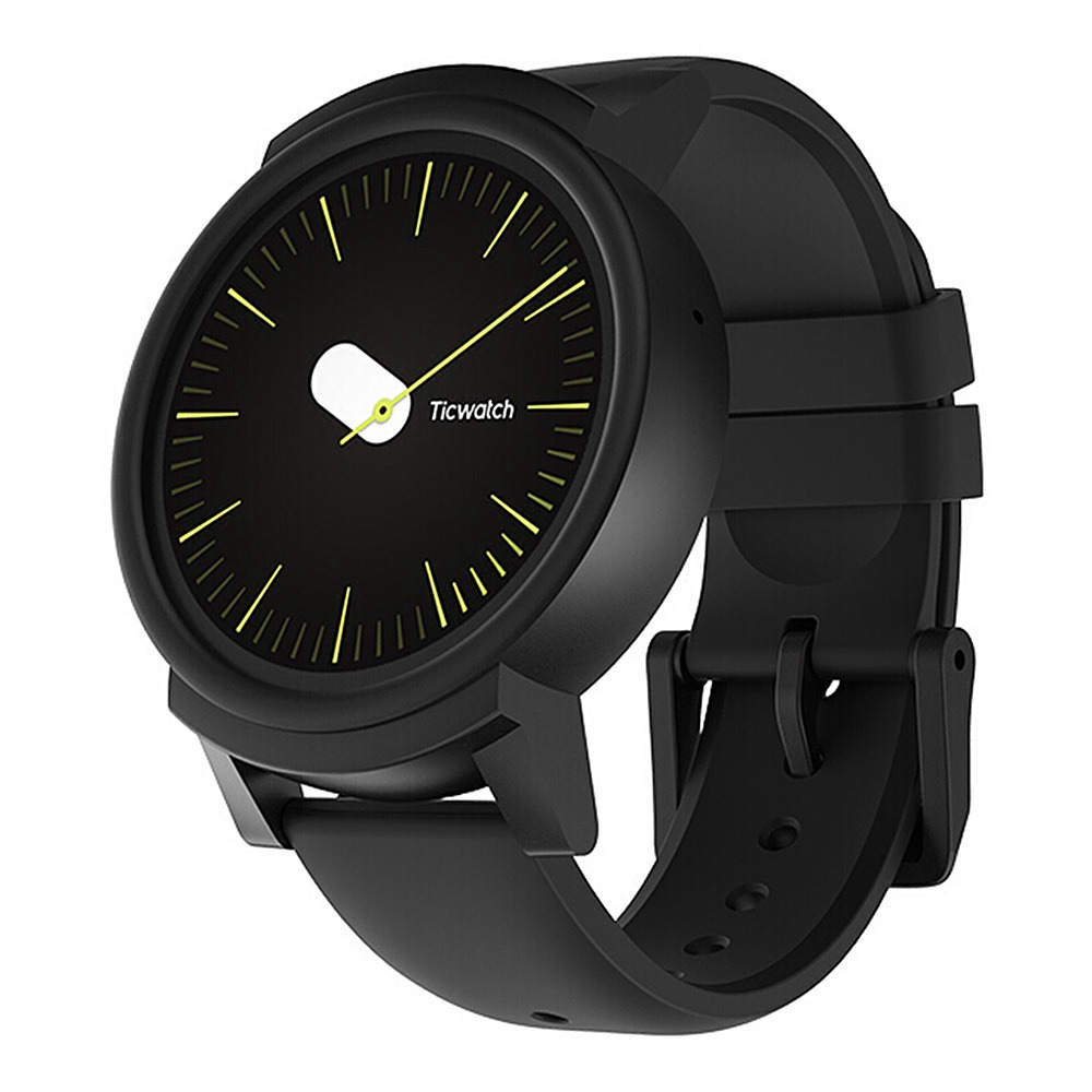 Ticwatch E Sports Smartwatch 1.4 & quot; Οθόνη OLED MT2601 Android φορούν Bluetooth 300mAh Μουσική GPS WIFI - Μαύρο