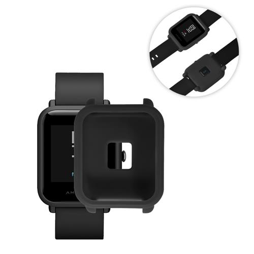 Silikon Schutzhülle für Huami Amazit Bip Smart Watch Anti-Crack Schutzhülle - Schwarz