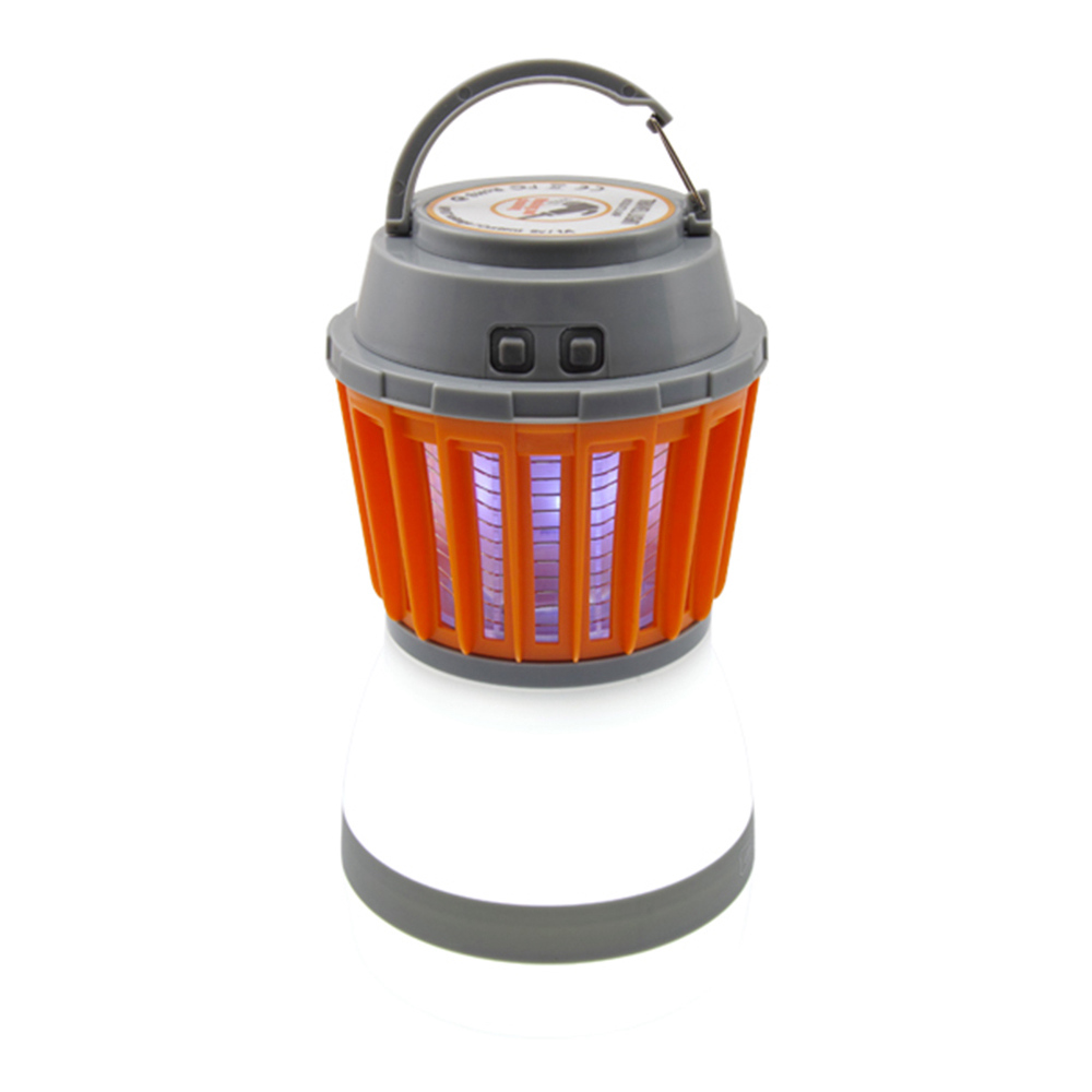 2-in-1 Camping LED Lighting Mosquito Killer Light USB Charging Built-in Battery