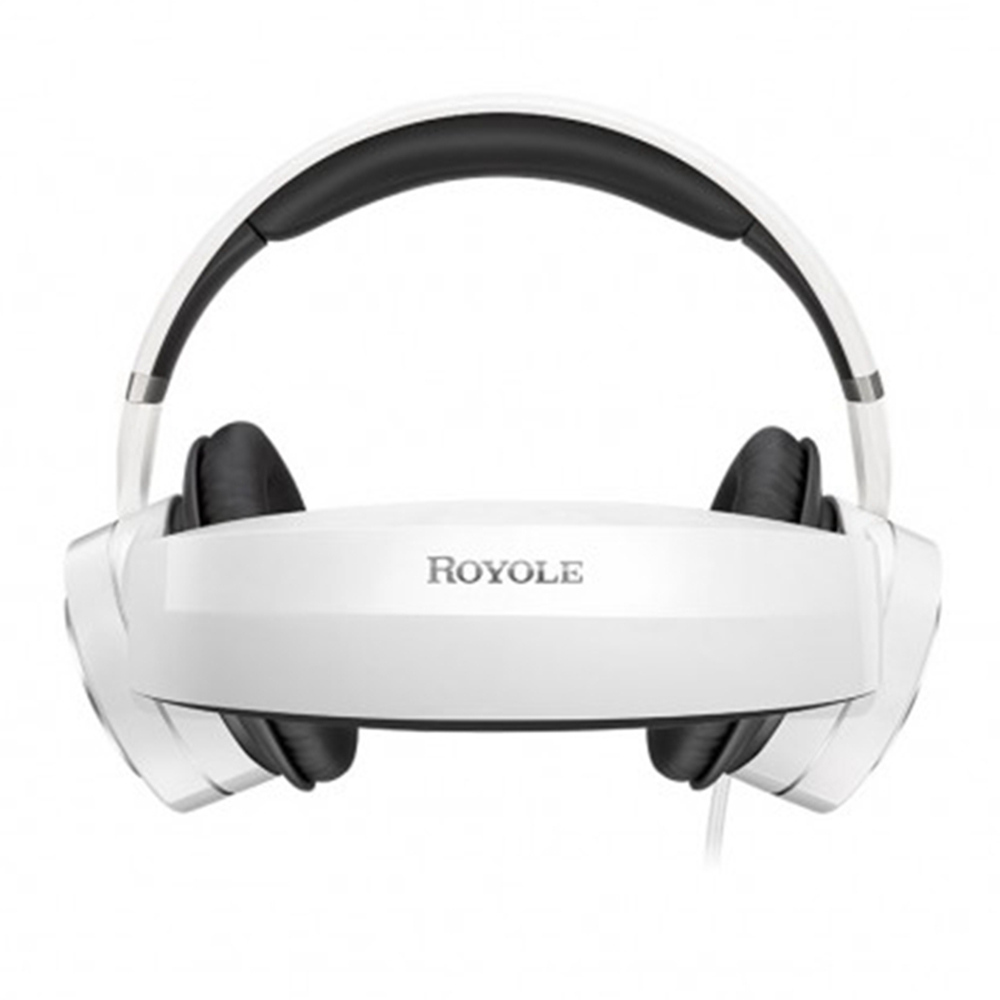 ROYOLE MOON All In One 3D VR Headset Dual 1080P FHD Display Moon OS Active Noise Cancelling Headphones Touch Control 3D Cinema Wi-Fi Bluetooth HDMI - White
