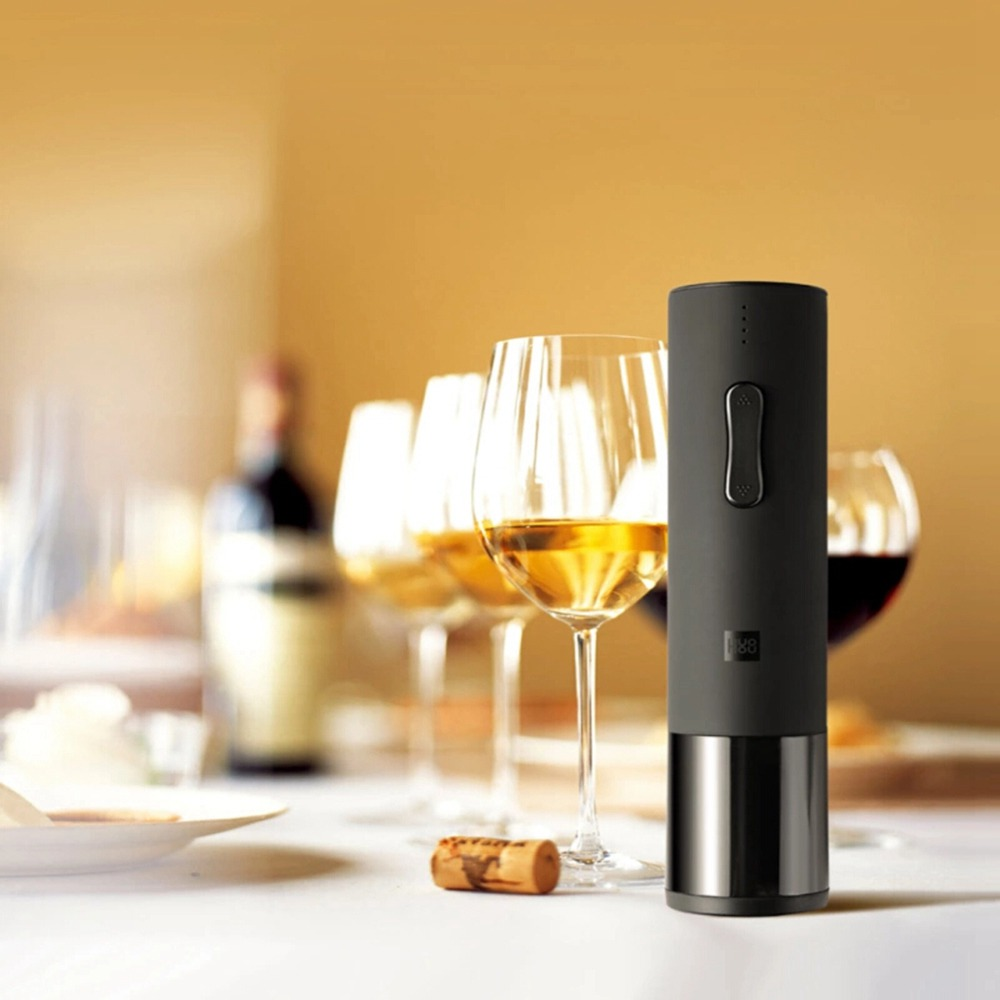 Xiaomi HuoHou Wine Elektrische Flesopener Six Seconds Open Bottle - Zwart