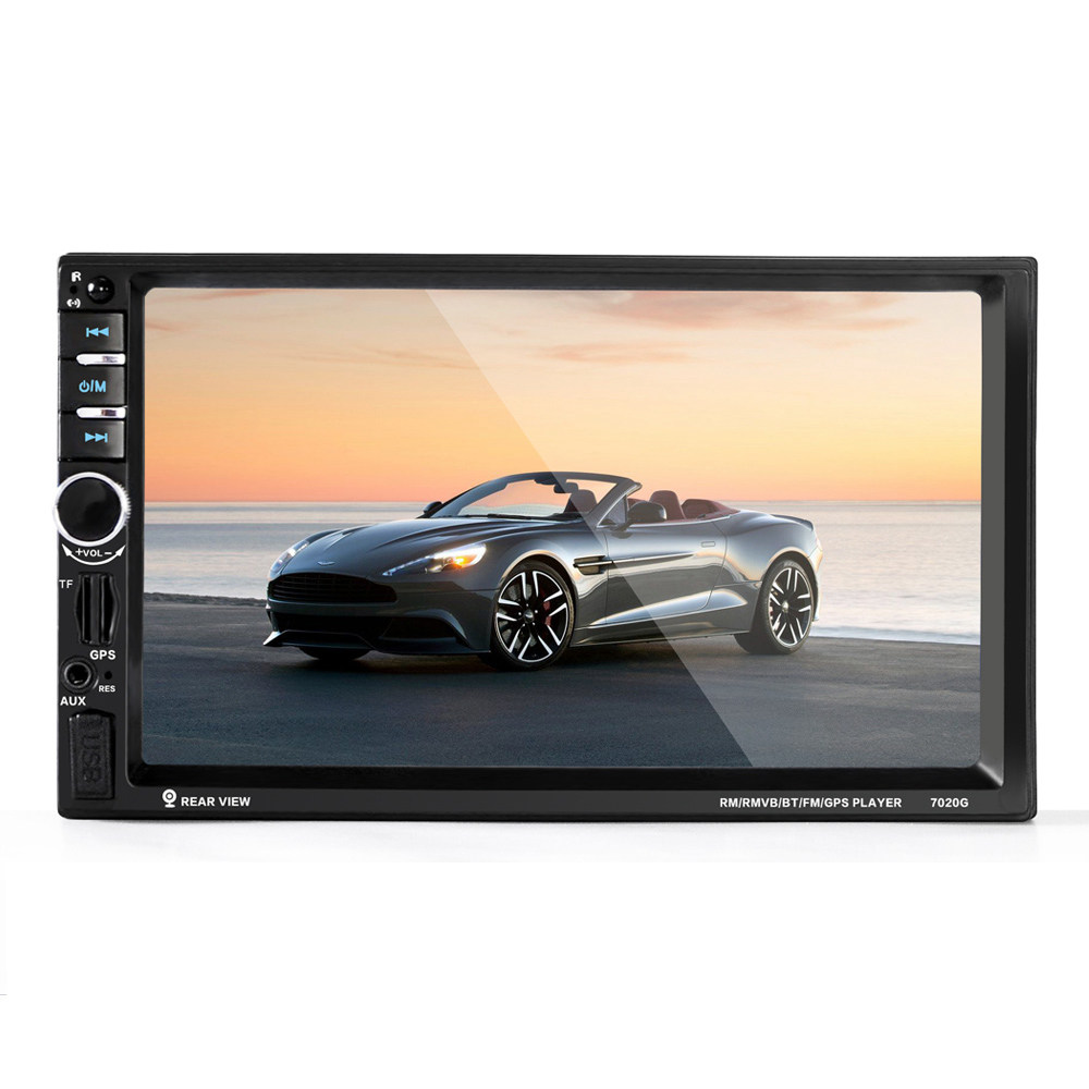 7020G 7 Zoll Digital TFT Touchscreen Auto MP5 Player Audio Stereo 1080P GPS System Auto Video Fernbedienung FM-Funktion - Schwarz