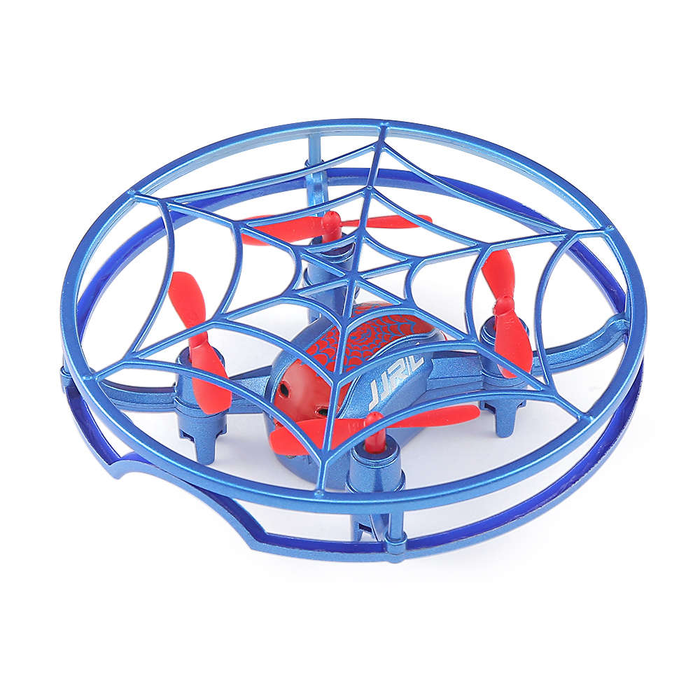 JJRC H64 SPIDERMAN 2.4G Gravity Sensor Control RC Quadcopter with Altitude Hold Mode 360 Degree Flips RTF - Blue
