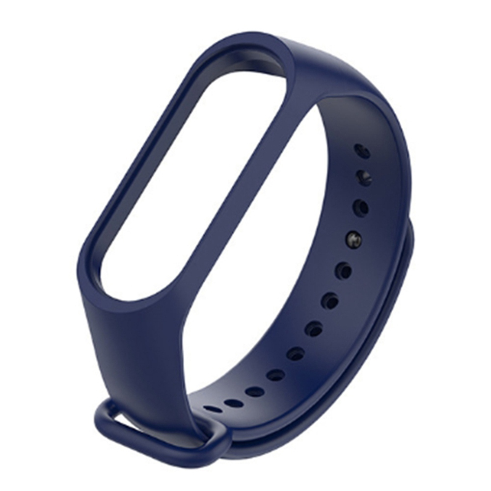Replacement Strap Silicon Watch Band for Xiaomi Mi Band 3 Smart Bracelet - Blue фото