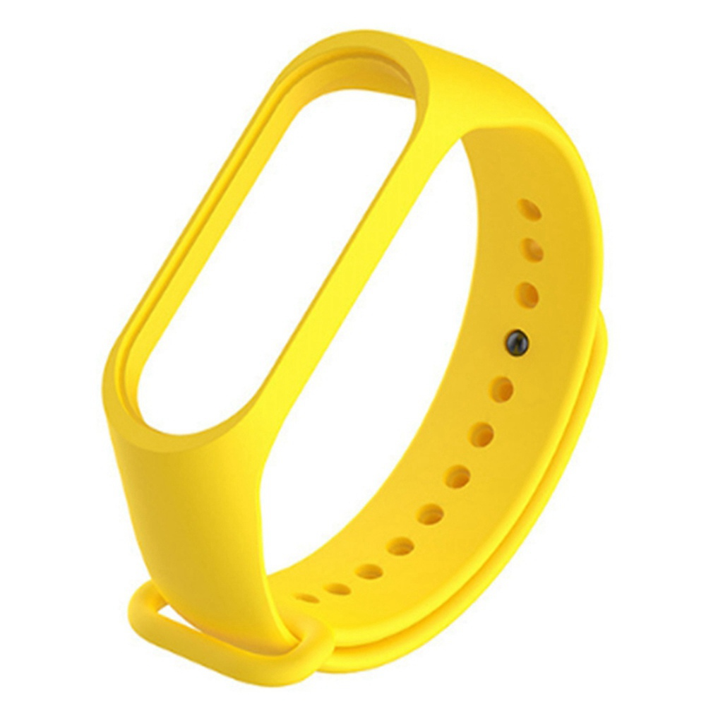 Replacement Strap Silicon Watch Band for Xiaomi Mi Band 3 Smart Bracelet - Yellow