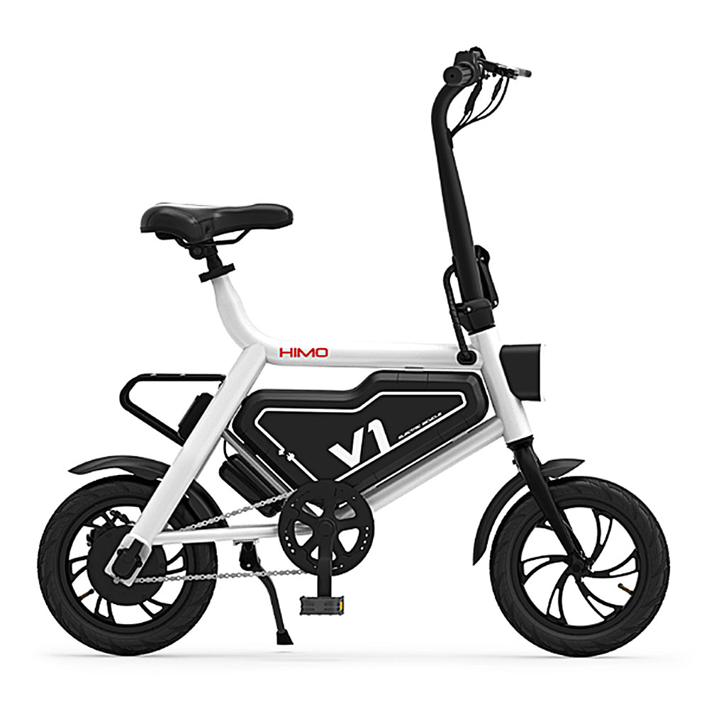 Xiaomi HIMO V1S Portable Folding Electric Moped Bicycle Ergonomic Design Multi-mode Riding - White