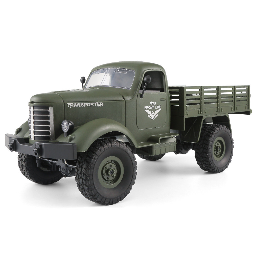 JJRC Q61 Transporter RC Car 2.4G 1:16 4WD Brushed Off-road Military Truck RTR - Army Green