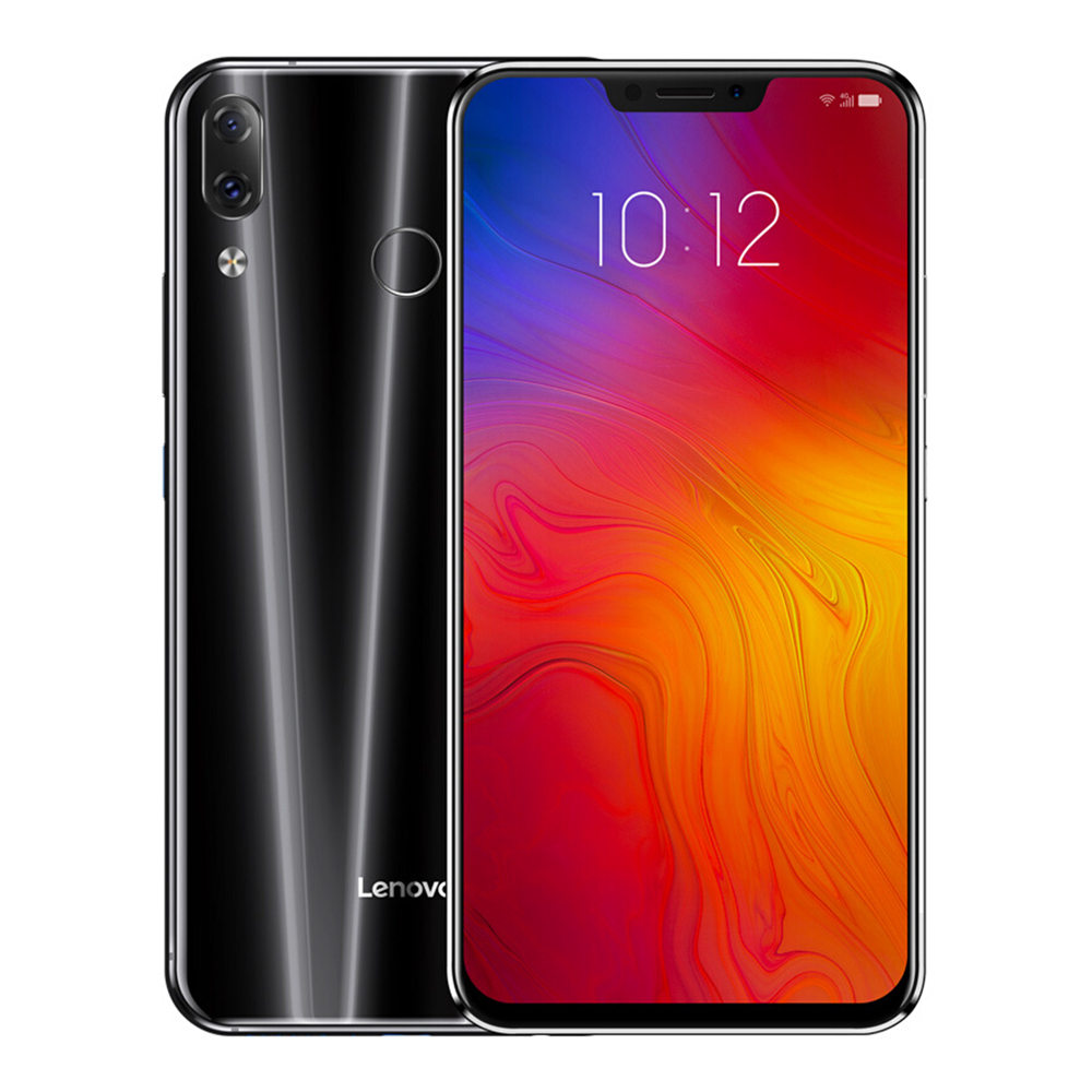 لينوفو Z5 6.2 4G LTE هاتف ذكي Snapdragon 636 6GB 64GB 16.0MP + 8.0MP كاميرات خلفية مزدوجة Android 8.1 OS Touch ID Type-C - أسود