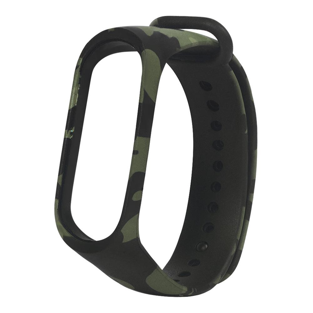 Cinturino da polso in silicone sostituibile per Xiaomi Mi Band 3 - Camouflage Green