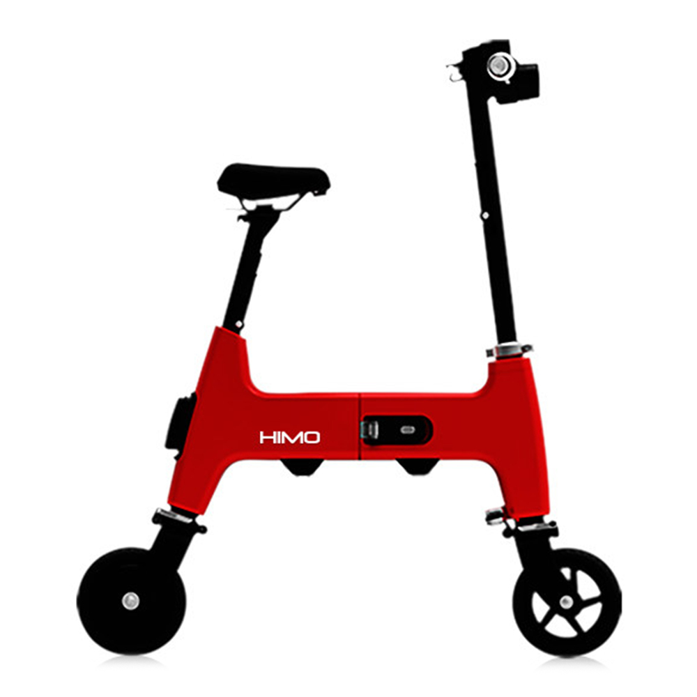 Xiaomi HIMO H1 Portable Folding Two-Wheel Electric Bicycle 20KM Endurance A3 Paper Size Safe And Comfort - Red фото