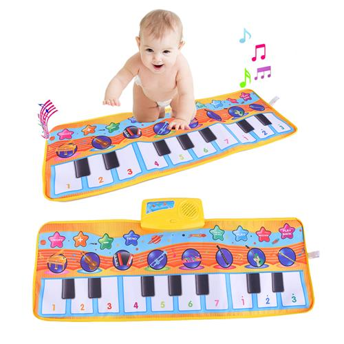 80x28CM Multifunction Baby Children Piano Music Blanket Musical Carpet Mat