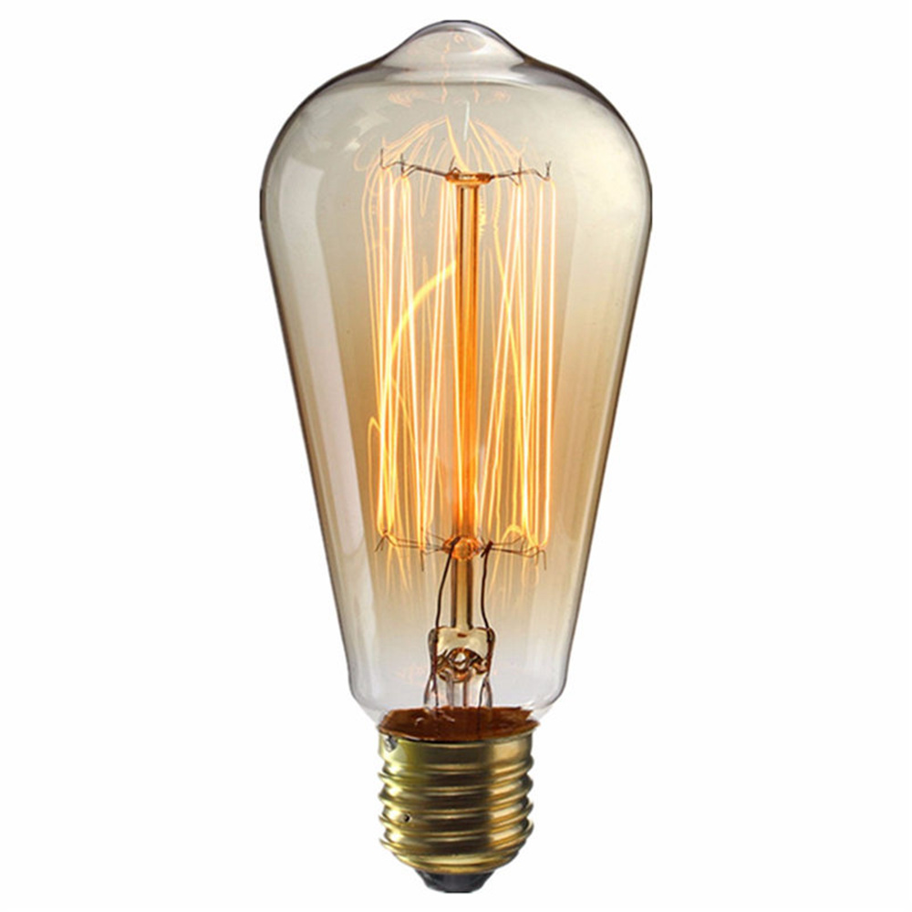 E27 ST64 40W Edison Bulb 330LM 110V 2700K Incandescent Filament Vintage Antique Light Bulb - 1pc