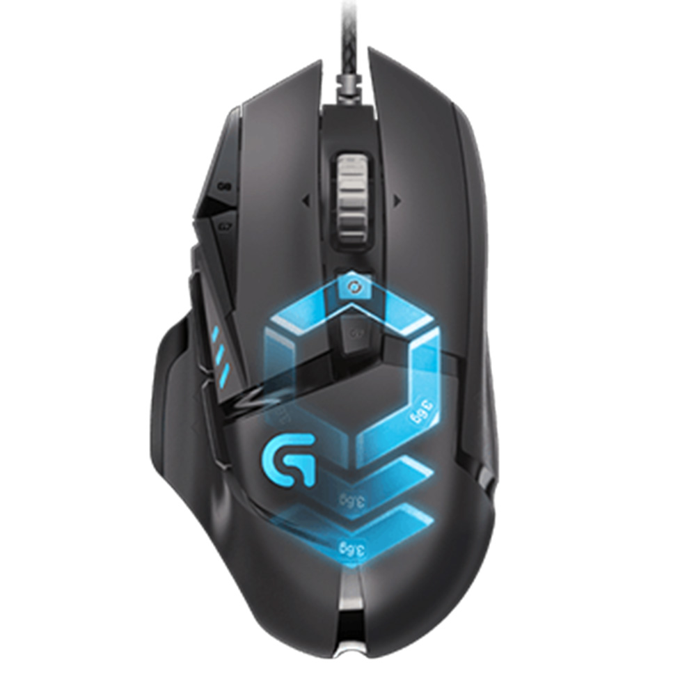 Logitech G502 HERO Proteus Spectrum Wired Adaptive Gaming Mouse 16000DPI USBコンピューターマウス(PC /ラップトップ用)-ブラック