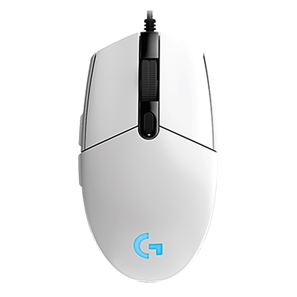 Logitech G102 Prodigy Wired Gaming Mouse 6 Teclas programables Retroiluminación RGB 8000DPI - Blanco
