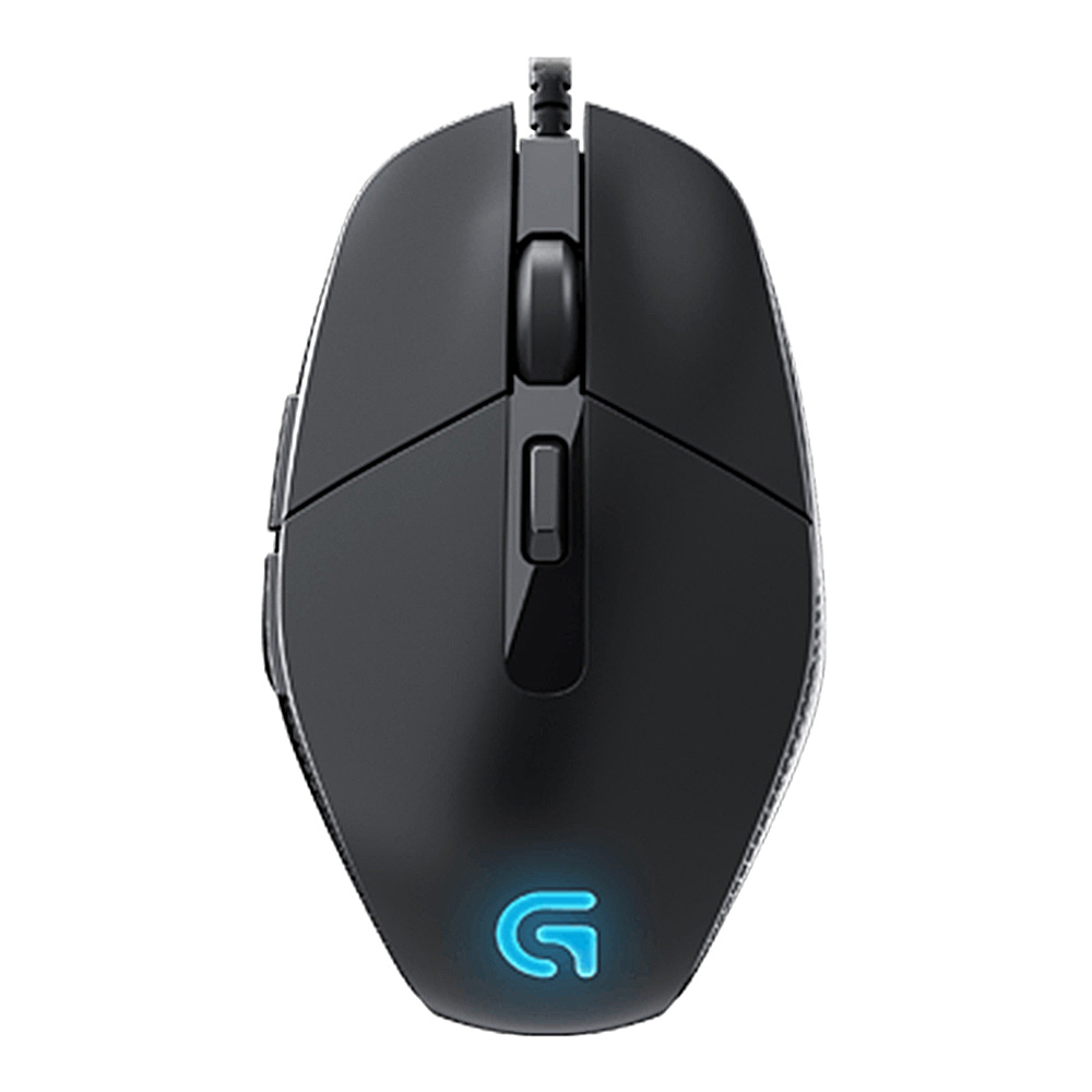 Logitech G302 Daedalus Prime MOBA Wired Optical Gaming Mouse Lightweight Design 4000 DPI For PC / Laptop - Black