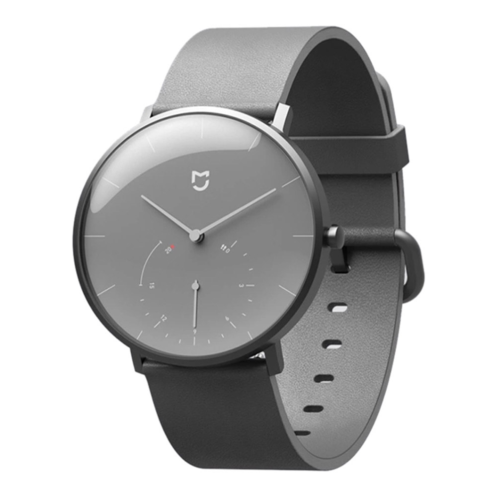 Xiaomi Mijia Quartz Smartwatch 3ATM Water Resistant Pedometer Stainless Steel Case Intelligent Vibration - Gray