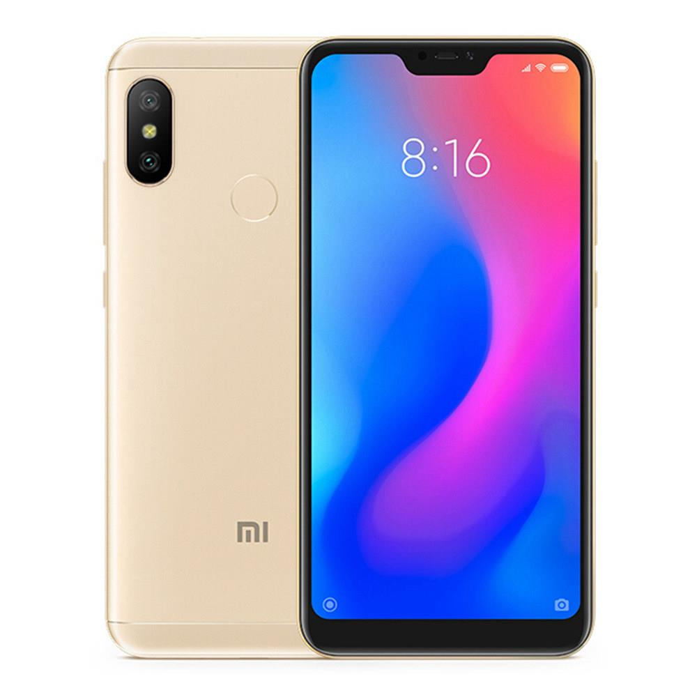 Xiaomi Mi A2 Lite 5.84 Inch Full Screen 4G LTE Smartphone Snapdragon 625 3GB 32GB 12.0MP+5.0MP Dual Rear Cameras Android 8.1 4000mAh Touch ID Global Version - Gold