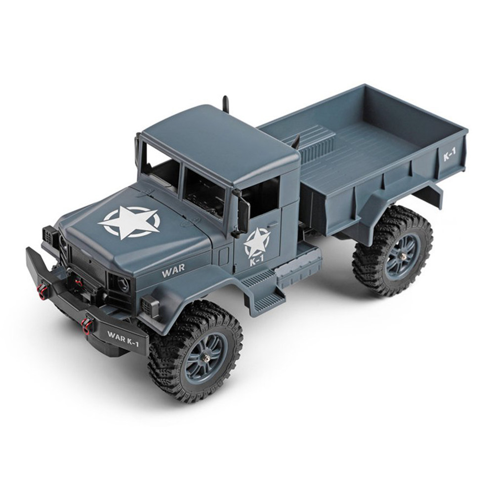 Wltoys 124301 2.4G 1:12 4WD 390 Bruhed Off-road RC Car 4.5kg Load Military Truck RTR - Army Green