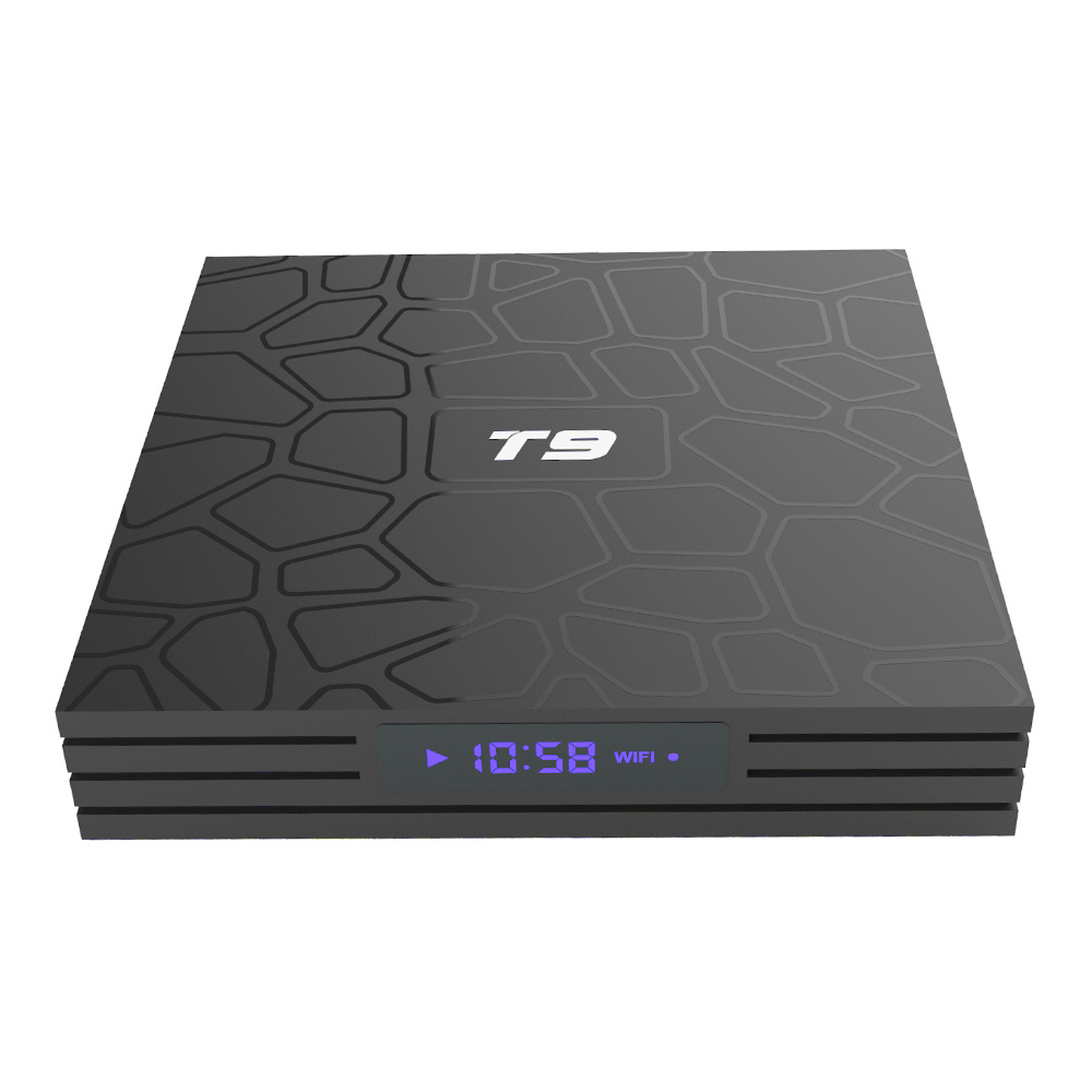 T9 RK3328 Android 8.1 4GB/32GB 4K TV BOX with LED Display KODI 17.6 WIFI Bluetooth LAN USB3.0 H.265