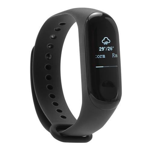"Xiaomi Mi Band 3 Smart Bracelet 0.78 ""OLED Touch Screen 5ATM Resistente all'acqua Sport Fitness Tracker Rifiuta telefonate Display di notifica Bluetooth 4.2 Versione internazionale - Nero"