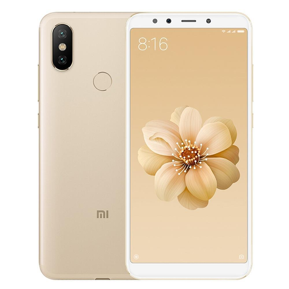 Xiaomi Mi A2 5.99 Inch Full Screen 4G LTE Smartphone Snapdragon 660 6GB 128GB 20.0MP+12.0MP Dual Rear Cameras Android 8.1 Touch ID OTG Type-C Global Version - Gold
