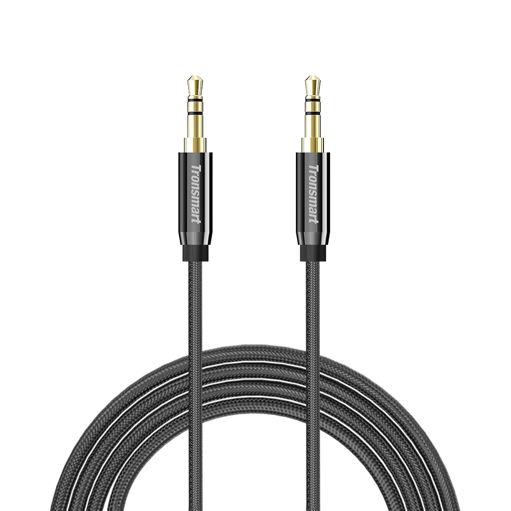 Tronsmart S3C01 3.5mm Male to Male Premium AUX Audio Cable 4ft/1.2m for Headphones/iPods/Phones/iPads - Black